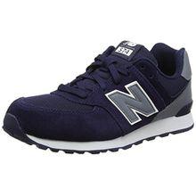 New Balance Unisex-Kinder Sneakers, Blau (Navy), 35.5 EU (3 UK)