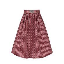 Gwandlalm Damen Broschen Dirndlschürze 65cm bordeaux, Rot, L