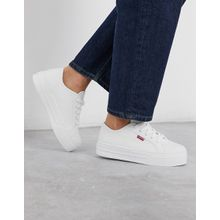 Levi's – Flatform Sneaker-Weiß