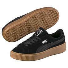 Puma Damen Suede Platform Animal Sneaker, Schwarz Black-Silver 01, 38.5 EU