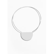 Semicircle Silver Choker Necklace - Silver