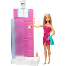 Barbie Deluxe-Set Möbel Shower & Puppe