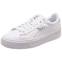 Puma Damen Basket Platform EP WN's Sneaker, Weiß White White White, 38 EU