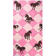 myToys Strand- & Badetuch Pferd, 75 x 150 cm rosa