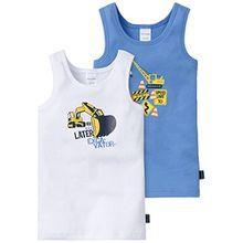 Schiesser Jungen Unterhemd Hemd 0/0, 2er Pack, Gr. 98, Mehrfarbig (sortiert 1 901)