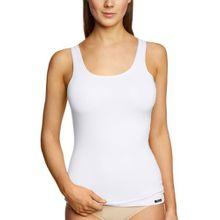Skiny Damen Unterhemden Essentials Light Tank Top, Gr. 36, Weiß (0500 WHITE)