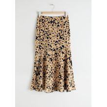 Floral Print Midi Skirt - Yellow