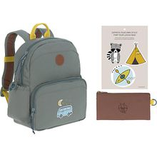 Kindergarten-Rucksack 4Kids, Medium Backpack, Adventure Bus, blue blau