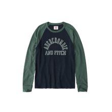 Abercrombie & Fitch Sweatshirt 'LS TECH PLATED 4CC' navy