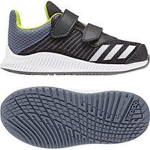 adidas Unisex Baby FortaRun Cloudfoam Sneaker, Schwarz (Carbon/Silvmt/Rawste), 22 EU