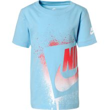NIKE T-Shirt 'Futura' hellblau / rot / weiß