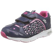 Lico Shine V, Mädchen Sneakers, Blau (Marine/Pink), 28 EU