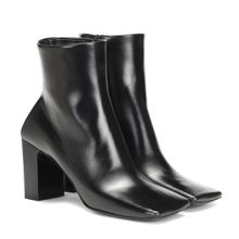 Ankle Boots Double Square aus Leder