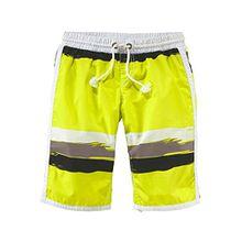 Venice Beach Jungen Badeshorts Bermuda Beachshorts Shorts Hose (134, Gelb)