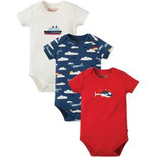 Frugi Super 3er Pack Kurzarmbody - Transport