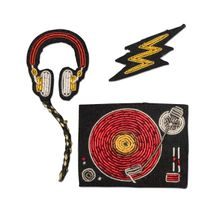 Macon&Lesquoy; Stickbroschen Set of 3 DJ - Mehrfarbig