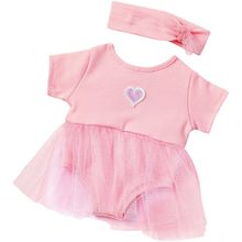 Puppenkleidung Ballerina-Anzug Pink, 43 cm