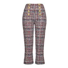 Balmain Cropped Pants aus gemustertem Tweed