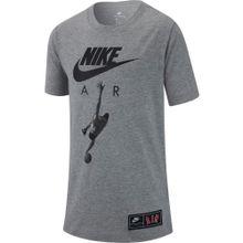 Nike Sportswear T-Shirt 'Air Photo' graumeliert / schwarz