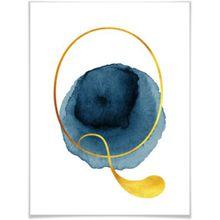 """Kunstdruck """"Alphabet"""" 50x60 cm blau/weiß"""