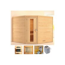 KONIFERA Sauna »Veeti«, 231x231x198 cm, 9 kW Ofen mit int. Steuerung, Energiespartür