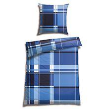 Schiesser Renforcé Bettwäsche Plemu royalblau/100% Baumwolle/in verschiedenen Größen erhältlich, Webart:Renforcé, Größe:135 cm x 200 cm, Farbe:royal blau