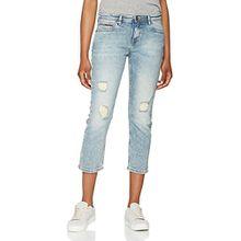 Hilfiger Denim Damen Jeans Straight Cropped Lana Gbcde, Blau (Greenwich Blue Comfort Destructed 911), W28/L30