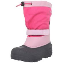 Columbia Youth Powderbug Plus Ii, Unisex-Kinder Warm gefütterte Schneestiefel, Pink (Satin Pink, Afterglow 952), 34 EU (2 Kinder UK)