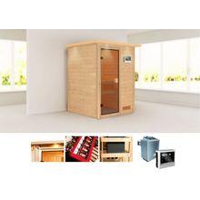 KONIFERA Sauna »Magni«, 172x158x202 cm, 9 kW Ofen mit ext. Steuerung, mit Dachkranz