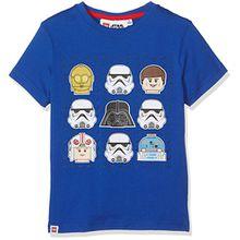 Lego Batman Jungen T-Shirt 806, Bleu (Bleu), 6 Jahre (Hersteller Größe: 6 Jahre)