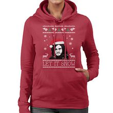 Let It Snow Jon Snow Christmas Game Of Thrones Women's Hooded Sweatshirt