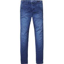 Scotch & Soda Shrunk Jungen Hose Washed Chinos | Regular Slim Fit, Blau (Navy 004), 140 (Herstellergröße: 10)