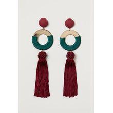 H & M - Ohrringe mit Quasten - Red - Damen