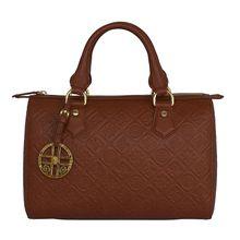 Silvio Tossi Lederhandtasche aus hochwertigem Lammleder Handtaschen braun Damen