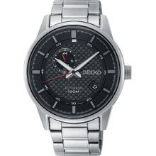 SEIKO Uhr schwarz / silber