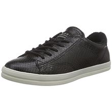 ESPRIT Mega Lace up, Damen Sneakers, Schwarz (001 Black), 36 EU