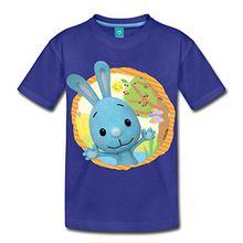 Spreadshirt KiKANiNCHEN Kaninchen Sommertag Am See Kinder Premium T-Shirt, 98/104 (2 Jahre), Königsblau