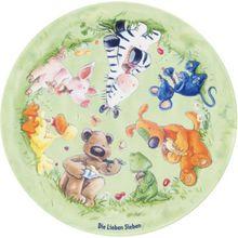 Kinderteppich Die Lieben Sieben, Wiese, rund, 100 cm mehrfarbig