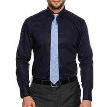 Milano Hemd Custom Fit + Krawatte in blau für Herren