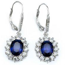 Schmuck-Elfe Paar Ohrhänger »Saphir Blue« aus 925 Sterling Silber