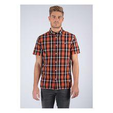 Kaporal Freizeit-Hemd Paddy Rust mit modischem Muster Langarmhemden orange Herren