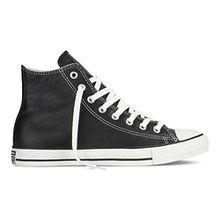 Converse Chucks Taylor All Star Hi Leder, Unisex - Erwachsene Sneaker, Schwarz (Schwarz), 41.5 EU