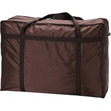 1 großer Wäschesack/Aufbewahrungsbeutel mit Reißverschluss für Kleidung, Bettdecke und Bettwäsche, zum Verstauen von Spielzeug, von Ease Home braun