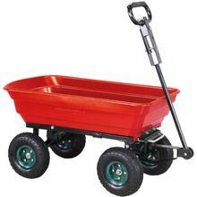 Bollerwagen Dumper, inkl. Kippfunktion und Lenkachse rot