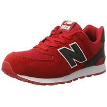 New Balance Unisex-Kinder 574 High Visibility Sneakers, Rot (Red), 37 EU