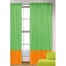 Vorhang Uni, grün-orange, 245x135, (1 Schal) grün/orange