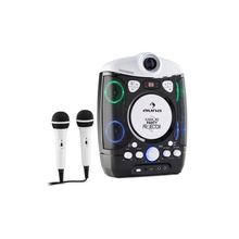 Auna Kinder Karaoke Anlage mit LCD Beamer LED Lichtshow 2 Mics USB »Kara Projectura«