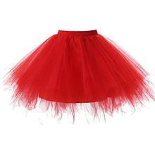 Oderola Damen Tutu Unterkleid Kurz Ballett Tanzkleid Ballklei Abendkleid Multicolor Bridal tulle Unterrock Petticoat Underskirt,Eine Größe