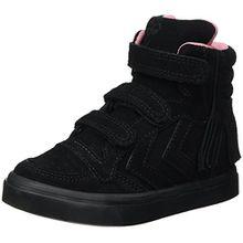 Hummel Mädchen Stadil Fringles JR Hohe Sneaker, Schwarz (Black), 29 EU