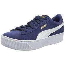 Puma Unisex-Kinder Vikky Platform Jr Sneaker, Blau (Sargasso Sea White), 38 EU